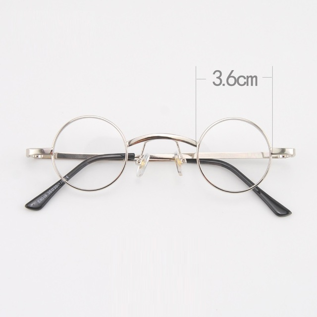dce1139c6d5 Cubojue 36mm Small Round Glasses Men Women Steampunk 80s 70s Eyeglasses  Frame for Myopia Diopter Vintage Punk Little Circle Nerd