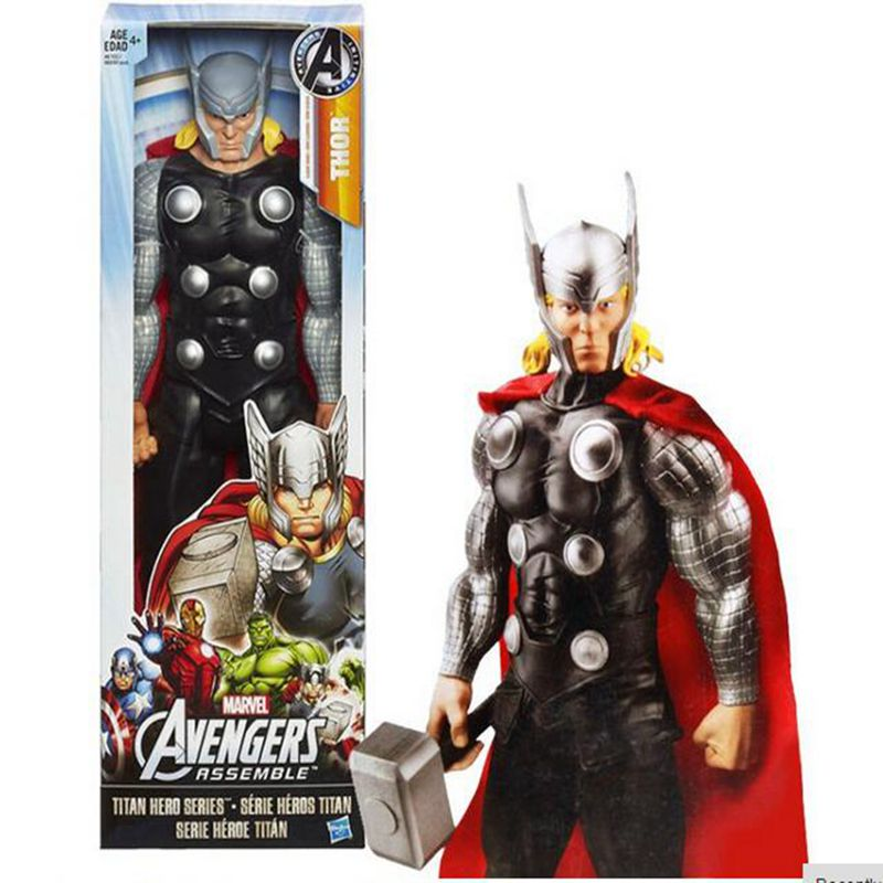 Original box - Marvel Avengers Thor PVC Action Figure Brinquedos Collectible Model Toy Super Hero kids toys 1230CM