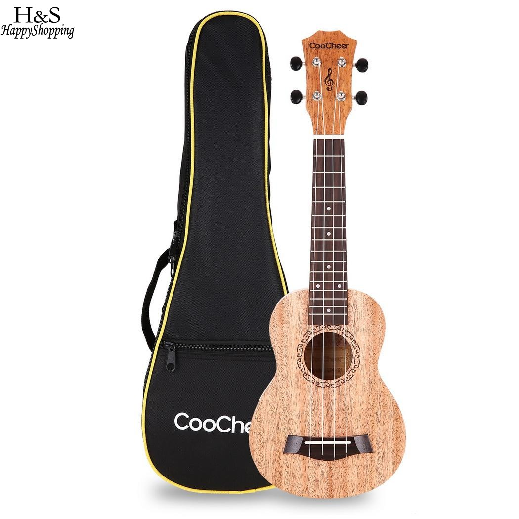 21inch Mahogany Soprano Ukulele With Bag Small Guitar Musical Instruments For Beginners Uke Sapele Rosewood 4 Strings Ukulele 26 inch mahogany soprano ukulele combo bass guitar guitarra musical instrument set for beginner with kit strap bag picks string