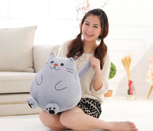 lovely plush gray cat toy fat cat doll cute lazy cat doll gift about 42cm
