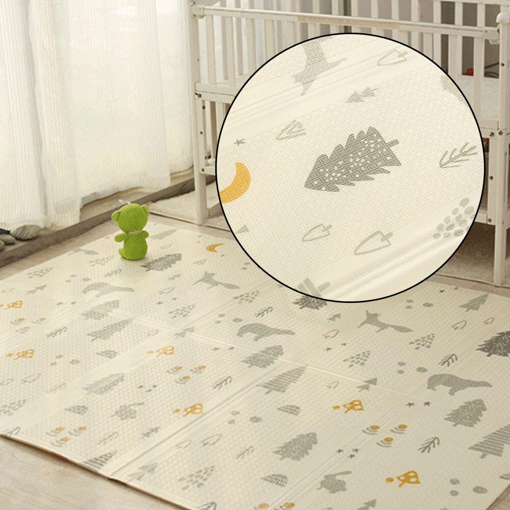 Tapis de jeu bébé pliant XPE ramper Pad 200 CM * 180 CM * 1 CM maison Portable extérieur pliant imperméable Puzzle tapis de jeu Carprt - 2