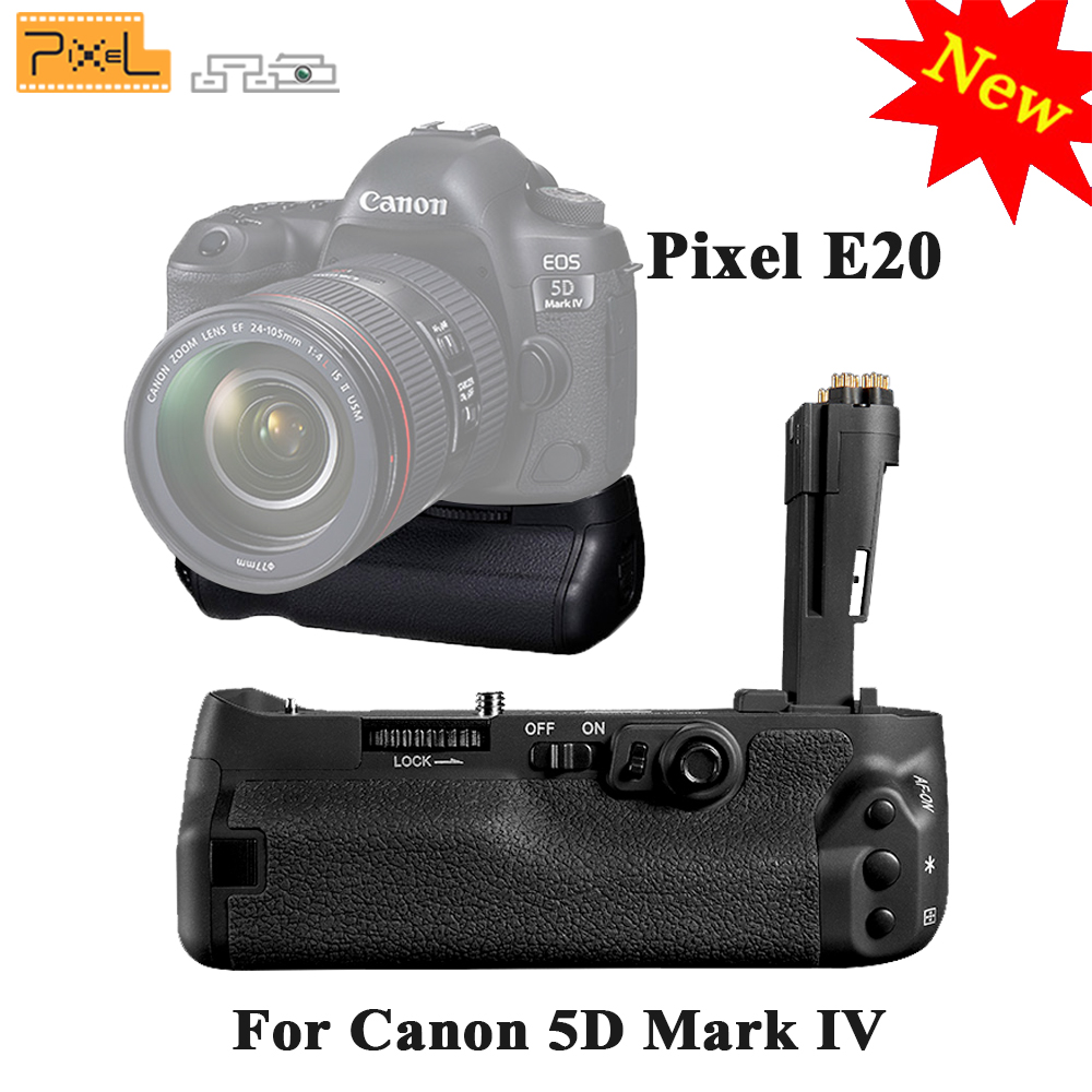 For Canon 5D Mark IV / 5D4 / 5D MarkIV DSLR Cameras PIXEL E20 Professinal Battery Grip BG-E20 Handle of LP-E6/LP-E6N Batteries meike mk d750 battery grip pack for nikon d750 dslr camera replacement mb d16 as en el15 battery