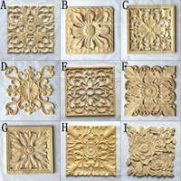 Square European Wooden Carving Door Flower Furniture Door Decals Home Improvement A739