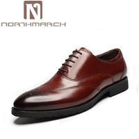 NORTHMARCH Mens Handmade Dress Shoes Luxury Brand High Quality Round Toe Men Oxford Shoes For Men