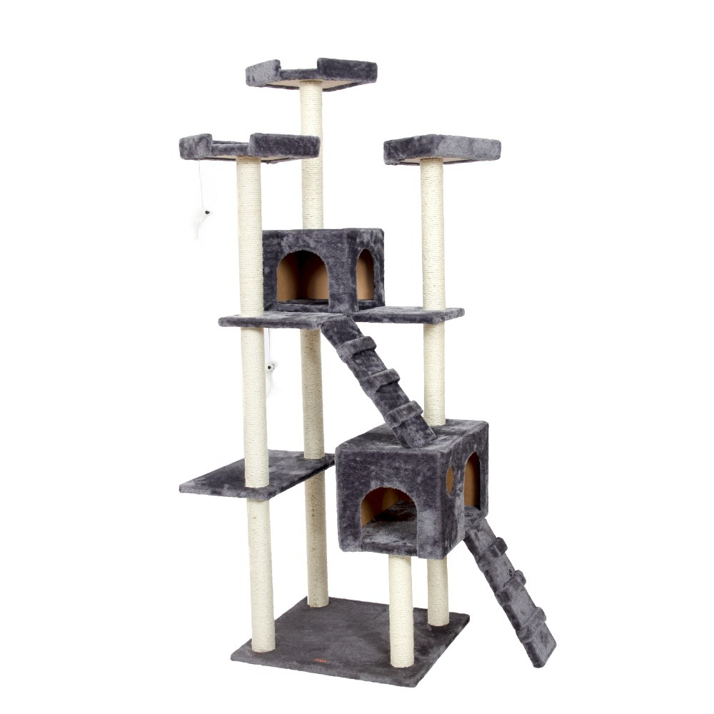 Domestic Delivery H182cm Cat Toys Cat House Cat Tree Pet Home Furniture Scratching Post Wood Tree