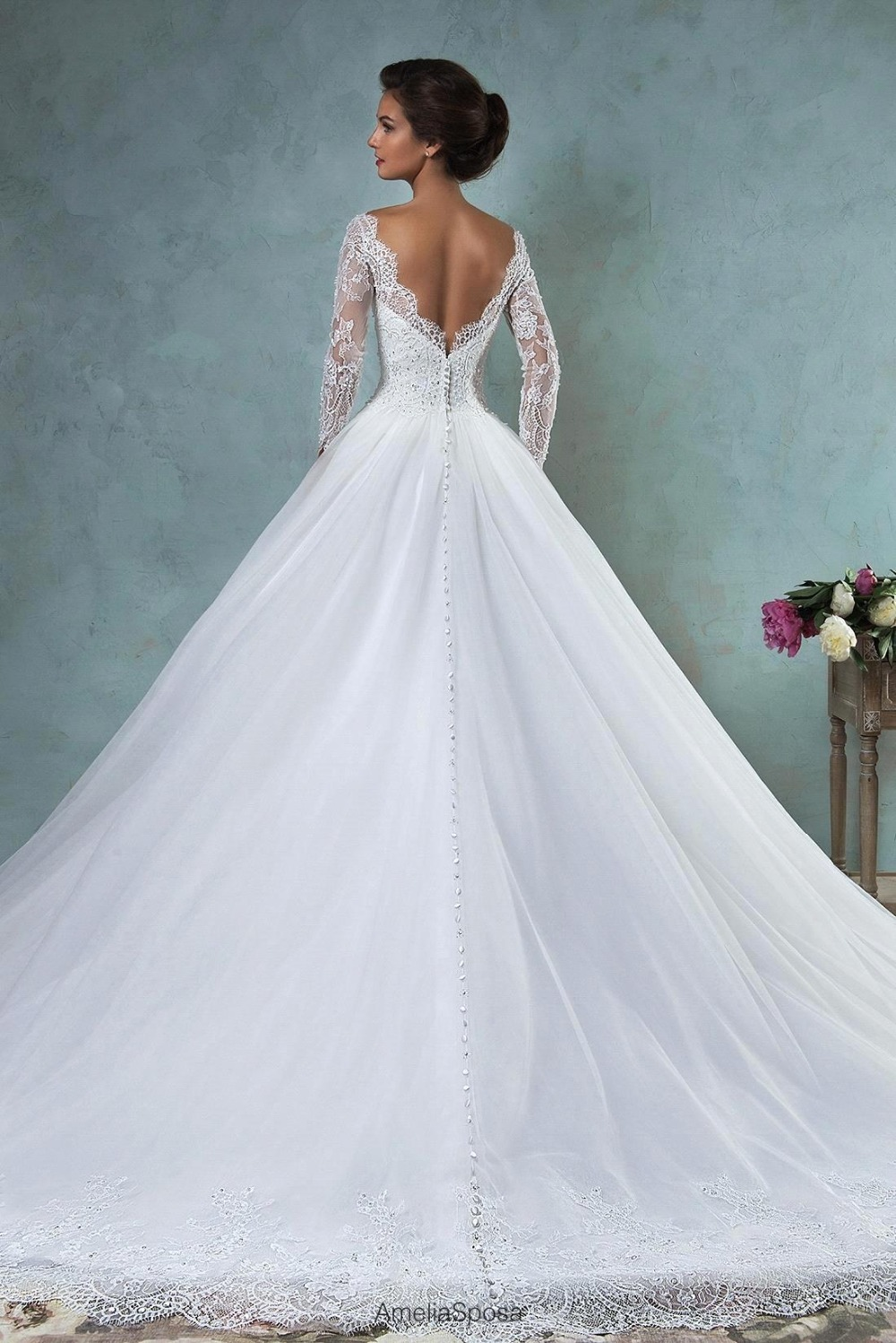 Fine Princess Wedding Gowns With Sleeves Pictures Inspiration ...