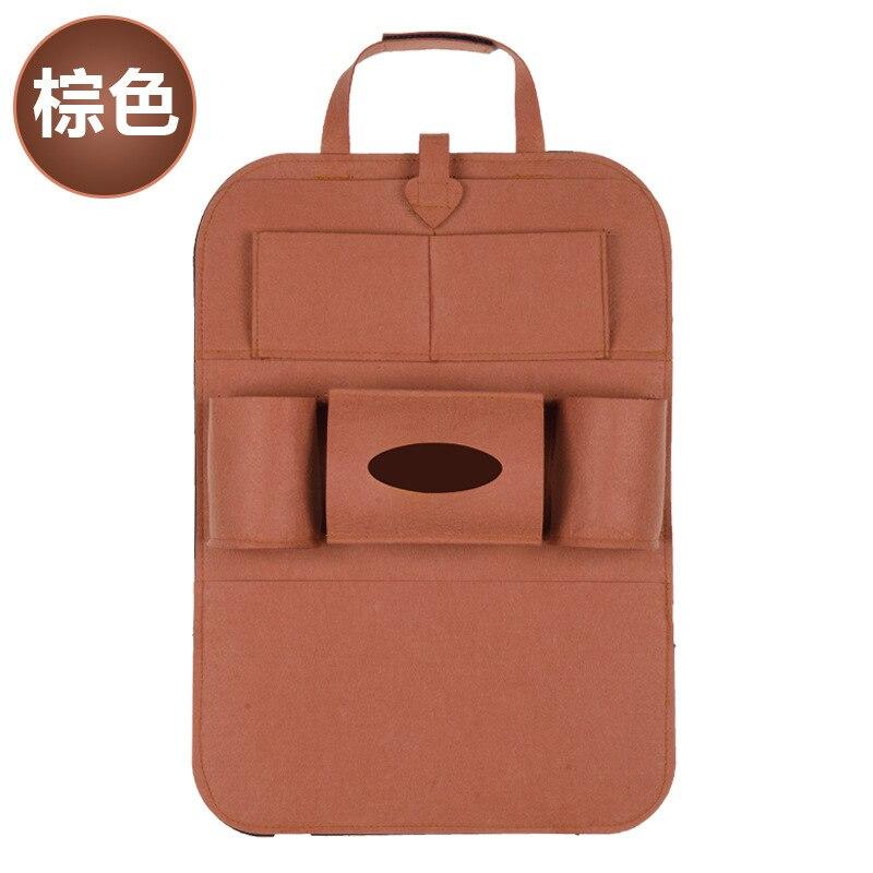 Дропшиппинг, чехлы для автомобиля, дизайн, модное автомобильное сиденье, для хранения, стильная многофункциональная сумка на заднюю часть, детское сиденье, для покупок, для автомобиля - Цвет: Ordinary brown