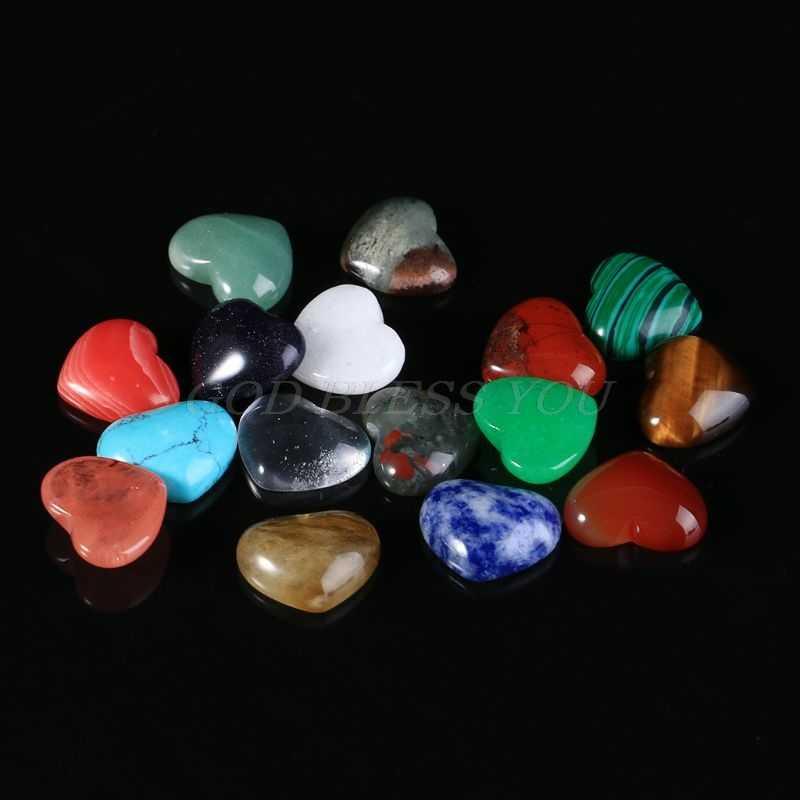18 มม. คริสตัลควอตซ์คริสตัลหิน Chakra Healing คริสตัล Reiki หินทำด้วยมือ DIY เครื่องประดับ