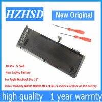 10.95 볼트 77.5Wh 새로운 원래 A1382 노트북 배터리 애플 맥북 프로 15 A1286 2011 2012 SeriesMC723 MC721