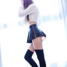 Sexy Zipper Open Faux Leather A-Line MINI Skirt Low Rise Waist Ruffled Skirt Micro Mini Skirt Club Pleated Skirt Sexy Wear Plus