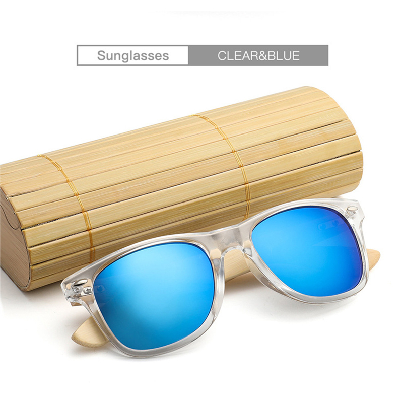 2018 HOT New Bamboo Sunglasses Wooden Wood Mens Womens Retro Vintage Summer Glasses free shipping #2A17
