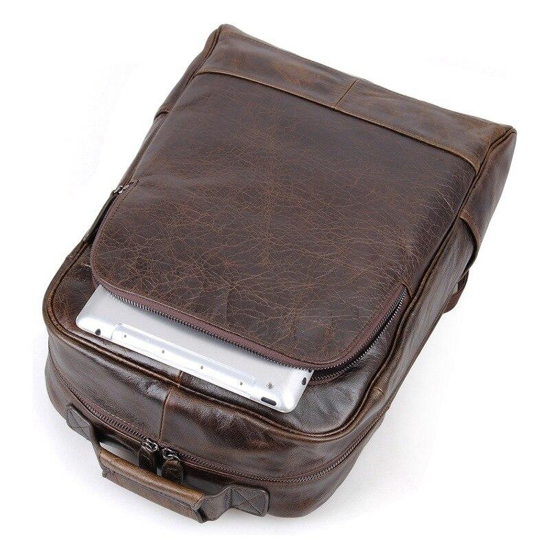 Kaffee Haut Vintage Echtes Frauen Echt Männlichen M7347 Reisetaschen Rucksäcke Hohe Nesitu Männer Qualität Leder Htq41n4Bv