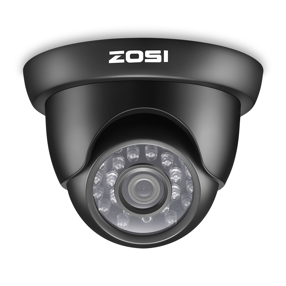 ZOSI 720P TVI Outdoor Indoor Video Surveillance Dome Camera HD 1280 TVL Weatherproof Home CCTV Security Camera System zosi 8ch cctv system 8ch network tvi dvr 4pcs 1280tvl ir weatherproof home security camera system surveillance kits