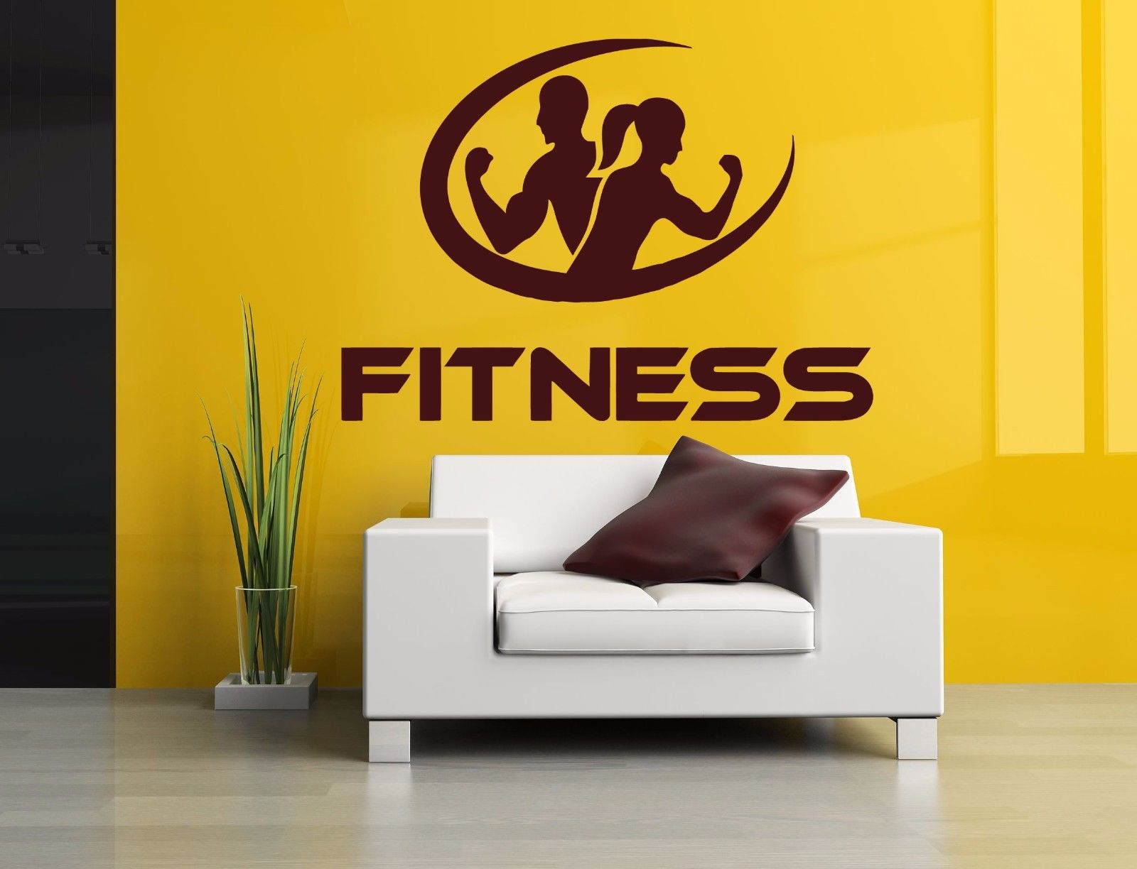 Fitness Wall Decal Room Sticker Bedroom Fitness Sport Crossfit Gym ...