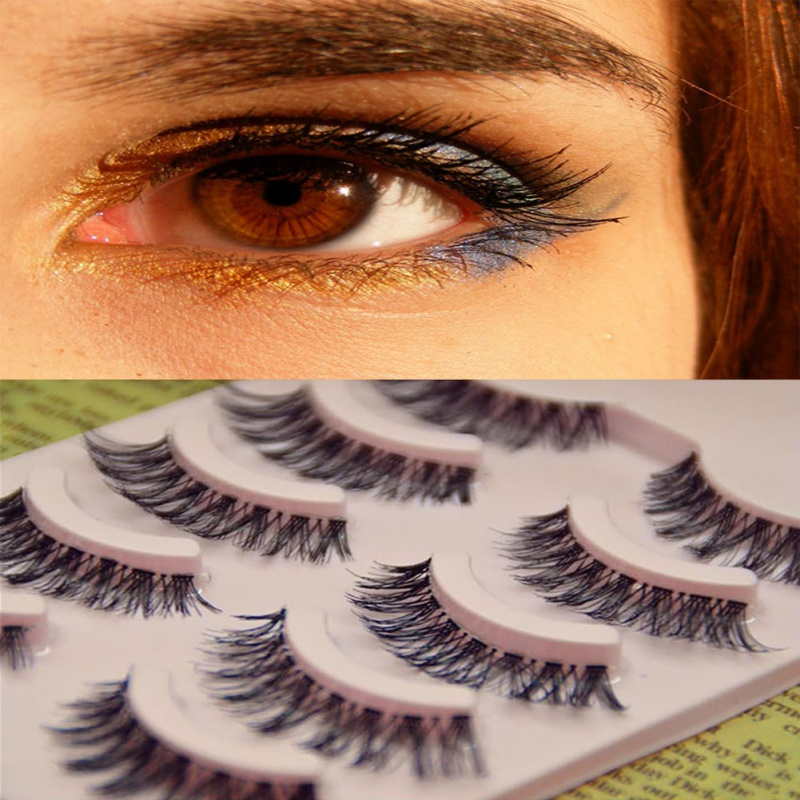 5Pair Professional Black Man made Makeup Individual Cluster Eye Lashes Grafting Fake False Eyelashes in False Eyelashes from Beauty Health