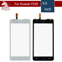 4.5 For Huawei Ascend Y530 LCD Touch Screen Digitizer Sensor Outer Glass Lens Panel Replacement 5 0 for zte blade a315 lcd touch screen digitizer sensor outer glass lens panel replacement