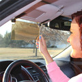 Novo Carro Pala de Sol Do Carro HD Anti-Reflexo Anti-ofuscante Óculos Clip-on Car Auto Sun Viseiras espelho Pala de Sol Escudo Visão Clara
