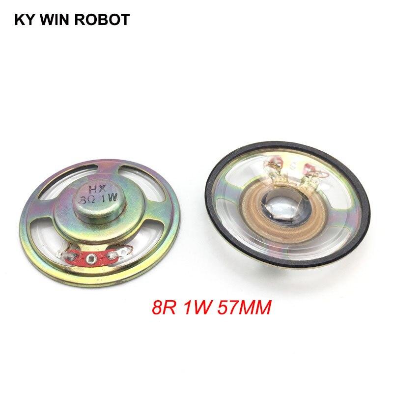 2pcs/lot New Ultra-thin Speaker Waterproof 8 Ohms 1 Watt 1W 8R Speaker Diameter 57MM 5.7CM Thickness 13MM