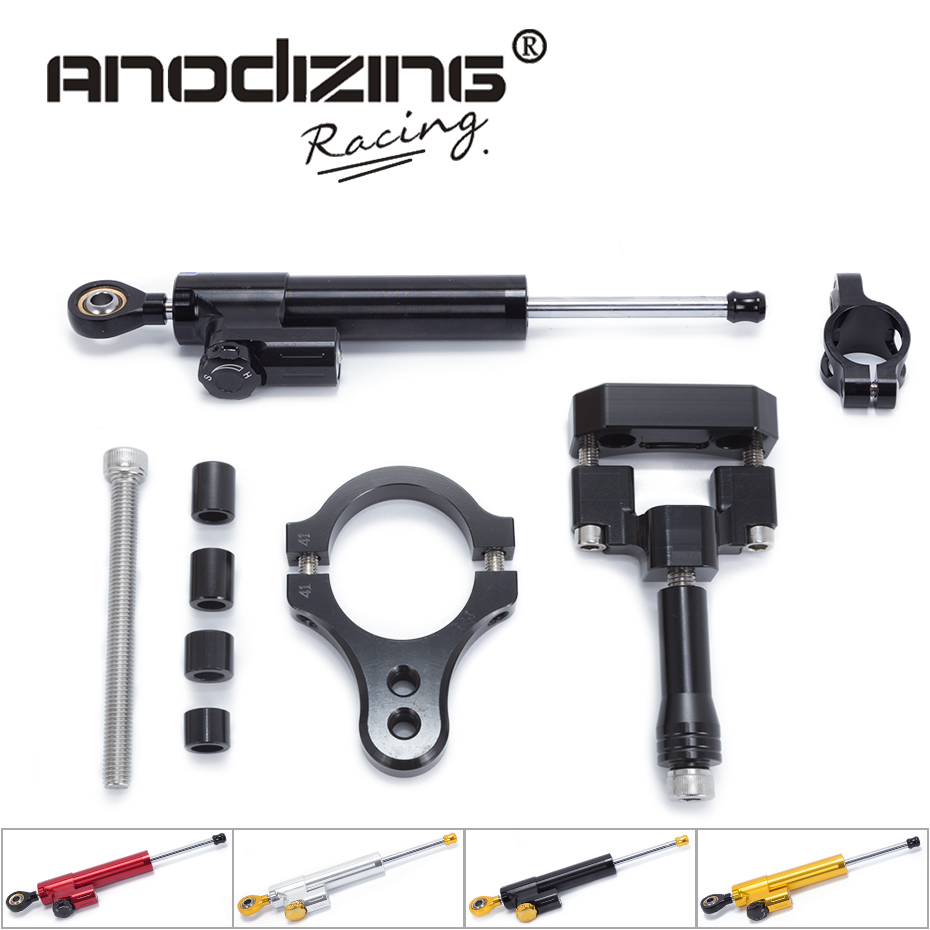 FREE SHIPPING For Yamaha R3 2014-2016 Motorcycle Aluminium Steering Stabilizer Damper Mounting Bracket Kit fxcnc aluminum motorcycle steering stabilizer damper mounting bracket support kit for yamaha fz1 fazer 2006 2015 2007 2008 09