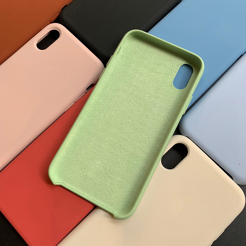 Original Offical Liquid Silicone For IPhone 7 8 Plus Phone Case For IPhone X XR XS MAX Cases For IPhone 6 S 7 8 XS Cover Coque
