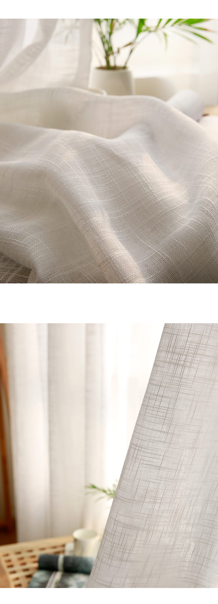 CITYINCITY Tulle  American Curtains for Living room Soft White Voile  solid Rural Tulle Curtain for bedroom ready made curtain07