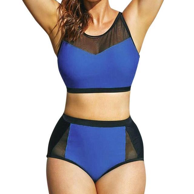 5378963772f Women's Plus Size Black White Stripe High Waisted Push Up Bikini Swimwear  high neck bikini swimwear women swimsuit brazilian