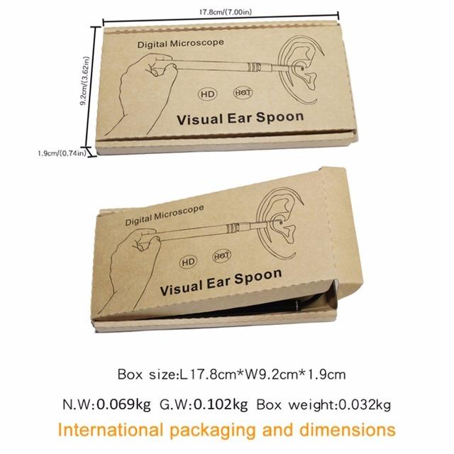2018 USB Ear Cleaning Tool HD Visual Ear Spoon Multifunctional Earpick With Mini Camera Pen Ear Care In-ear Cleaning Endoscope