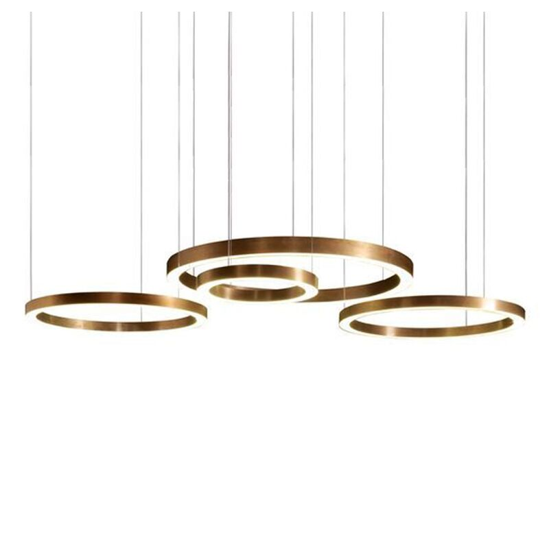 Chandeliers Modern Acrylic Chandelier Creativity Lamps Ring Circle Combination Light Fixtures For Dining Room Bar Counter Living Room