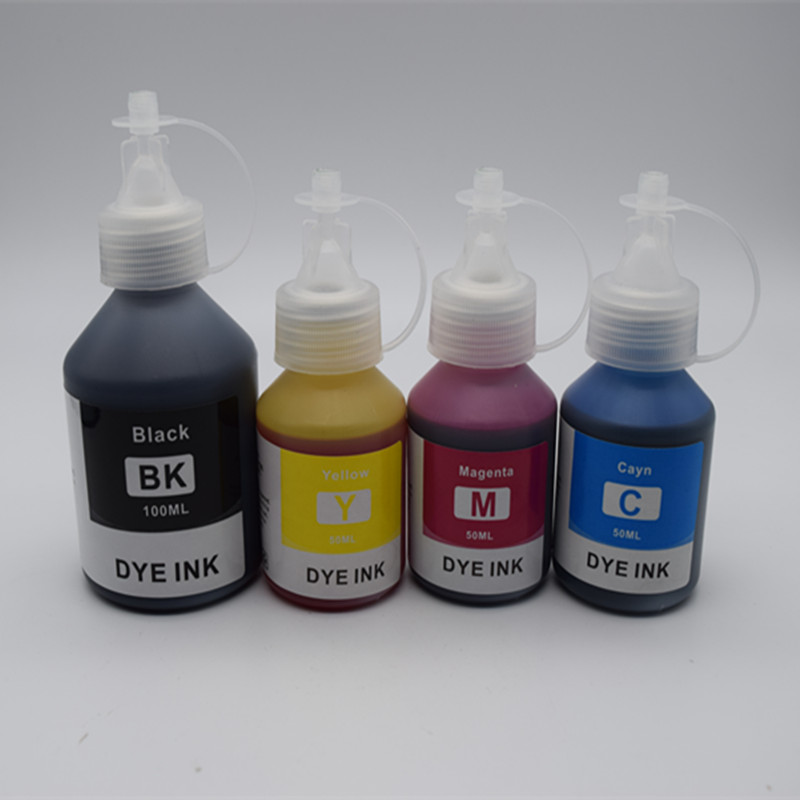 4 Pcs Refill Dye Ink Kit kits BK 100ML C/M/Y 50ML Special For all Brother DCP-T300 500W T700W T800W Refillable Inkjet Printer
