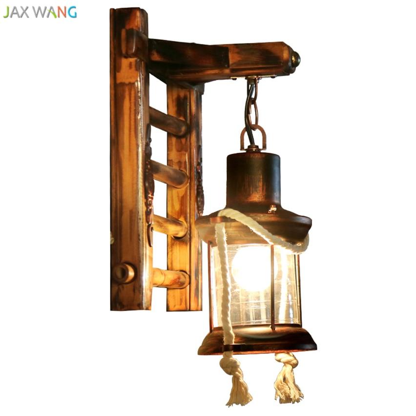 101 48 21 De Reduction Style Chinois Industriel Creatif Vintage Bambou Applique Murale Pour Salon Chambre Cafe Maison Antique Applique Murale