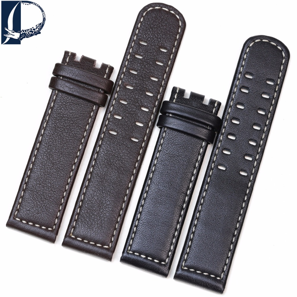 Pesno Genuine Calf Skin Leather Watch Band suitable for