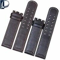 Pesno Genuine Calf Skin Leather Watch Band suitable for Hamilton Khaki Aviation Smooth Texture Strap Bamboo Grain Wrist Bracelet