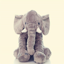 2017 Hot Sale 60cm Gray Giant Elephant Stuffed Animal Toy Animal Shape Pillow Baby Toys Home Decor Kids Toys Free Shipping