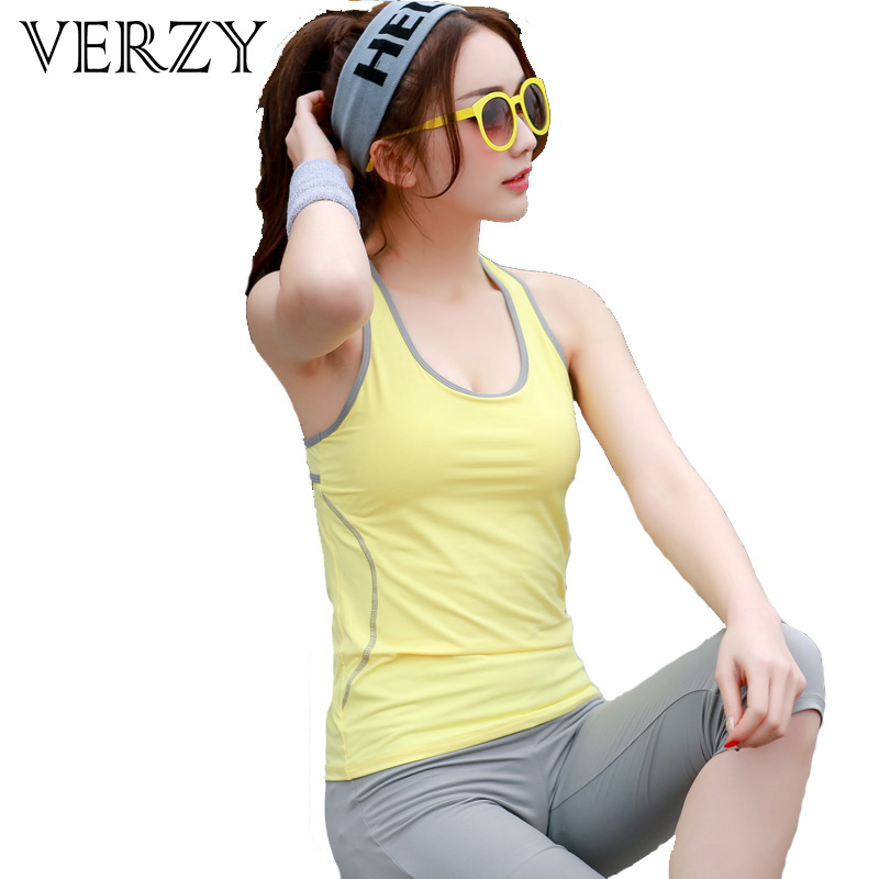 M-XL Women's Sportswear 3 Colors Two-piece Women Yoga Set U-neck Exercise Vest Solid Breathable Fitness Training Suit for Women