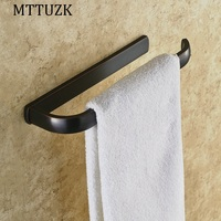 Top Quality Bathroom Accessories Black Single Towel Bars Oil Rubbed Bronzebar Copper Bath Towel Holder