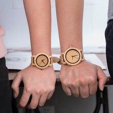 DODO DEER Bamboo Wooden Lover Couple Watches Men Ladies Wris