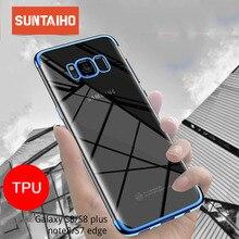 Suntaiho Dành Cho Samsung Galaxy Samsung Galaxy A5 2017 Cho S6 S7 Edge S8 S9 Plus Note8 Note9 Silicone A5 2017 a7 J7 J3 2016 2018 A8 Bao