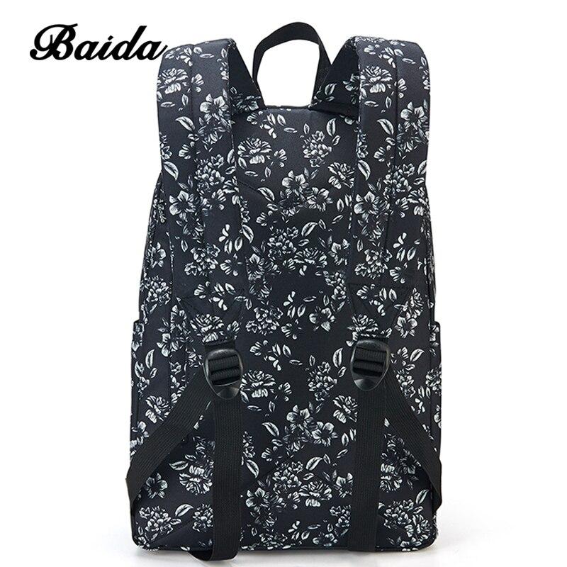 baida moda preto floral padrão Exterior : Saco Contínuo