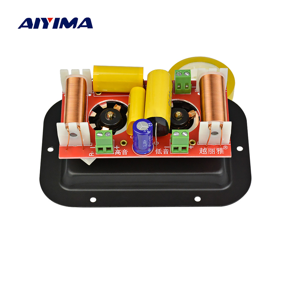 AIYIMA 1PC 300W Audio Speaker 2 Way Crossover Treble Midrange Bass Independent Frequency Divider Crossover Speakers Filter DIY