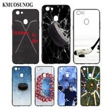 Silicone Phone Bag For OPPO F5 F7 F9 A5 A7 R9S R15 R17 Black Soft Case Hockey Sport Style