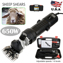 650W Electric Shearing Clipper Shear 6 Adjustable Speed Sheep Goats Shears Shearing Machine Cutter Wool Scissor Power Tool ship from eu 380w electric shearing clippers shears for sheep goat pet animal farm tool
