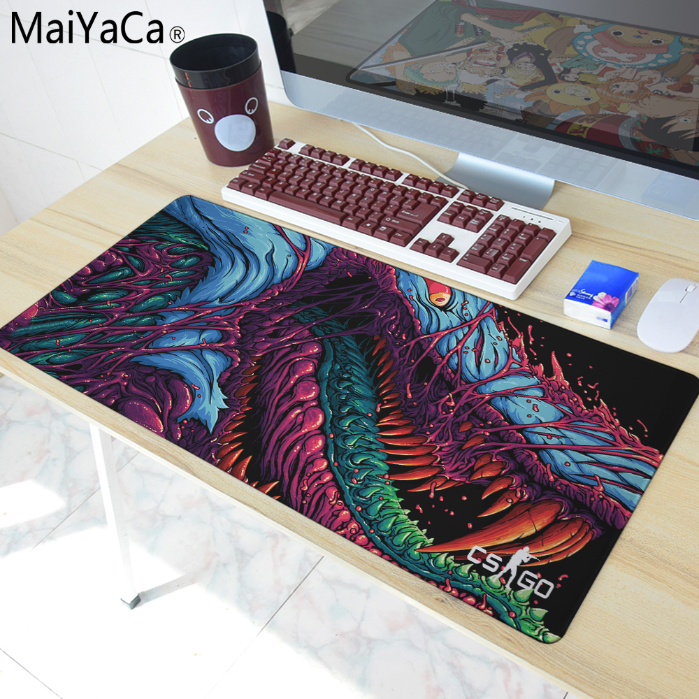 MaiYaCa The most fire Hyper beast CS GO Large Mouse Pad Overlock Edge Big Gaming mouse Pad Send BoyFriend the Best Gift 40x90cm свитшот print bar cs go hyper beast black style