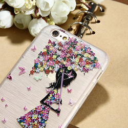 CASIER Girl Flower Case For iPhone 7 6 6s Case iPhone 5s se Cases For Samsung Galaxy S7 S6 Edge Embossed Soft TPU Cover Shell 3