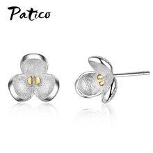 Fashion Stud Earrings For Women Wedding Party Jewelry Flower Cubic Zircon Earrings Brincos Christmas Gifts недорого