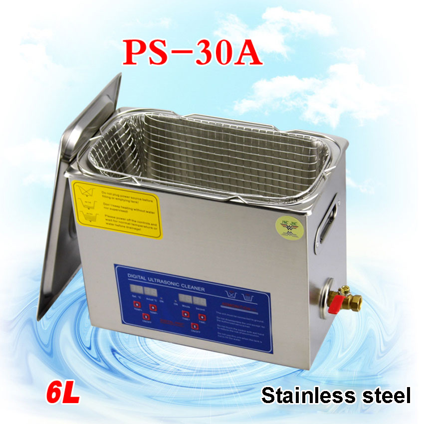 1PC 6L Stainless Steel 110V / 220V 6L perfect Industry Heated Ultrasonic Cleaner Heater Timer Cleaner Cleaning Machine настенный бордюр tubadzyn l steel 6 1 5x59 8