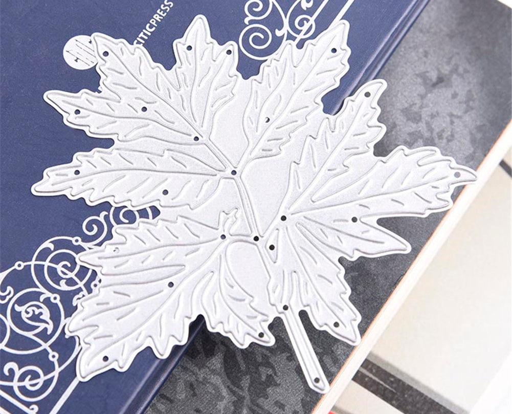 online shop metal maple leaf pattern template stencil for diy