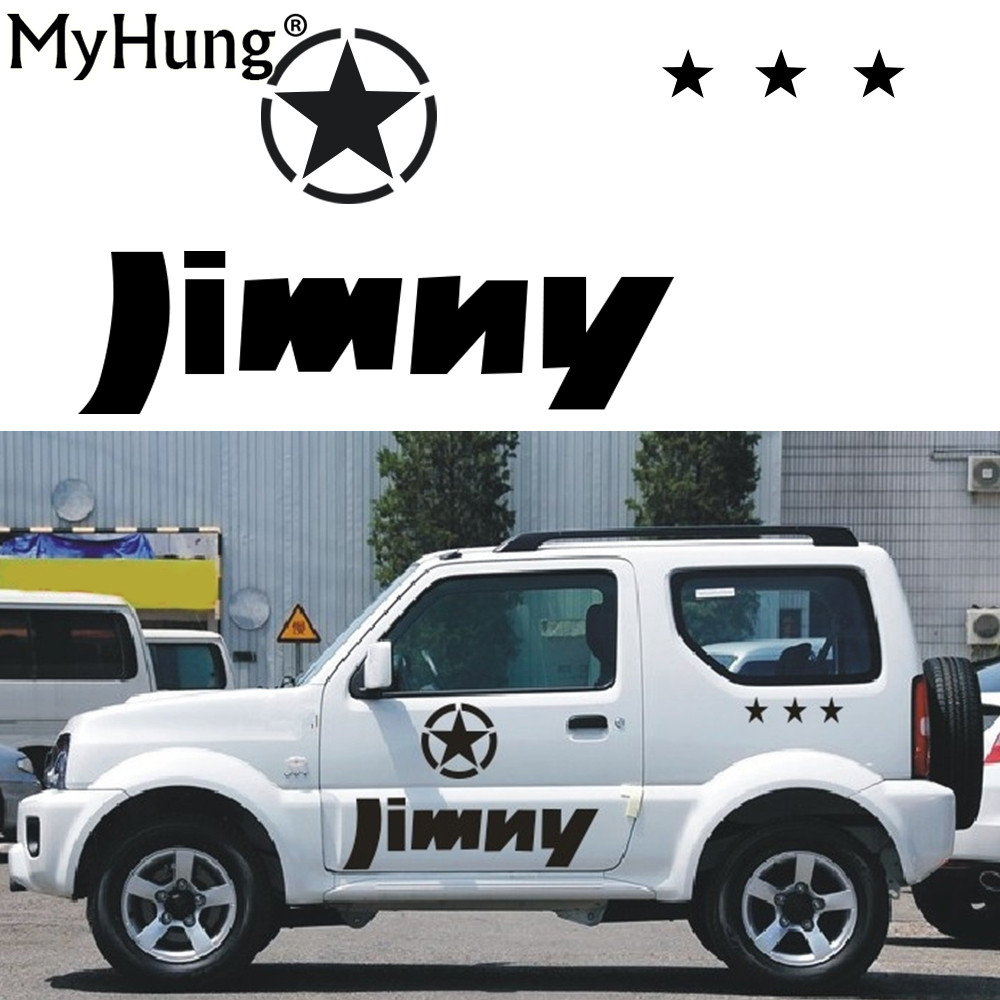 Stickers For SUZUKI Jimny Car Styling Jimny sticker Auto Accessories Reflective Waterproof Vinyl Car Decals Car Accessories 1PC stickers for suzuki jimny car styling jimny sticker auto accessories reflective waterproof vinyl car decals car accessories 1pc