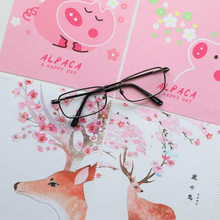 4pcs/lot High quality Glasses Cleaner Kashima Pig 17*14cm Microfiber Cleaning Cloth For Lens Phone Screen Wipes