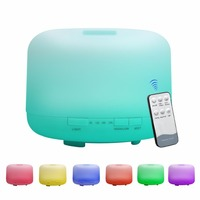 Remote Control 500ML Ultrasonic Air Aroma Humidifier With 7 Color Lights Electric Aromatherapy Essential Oil Aroma