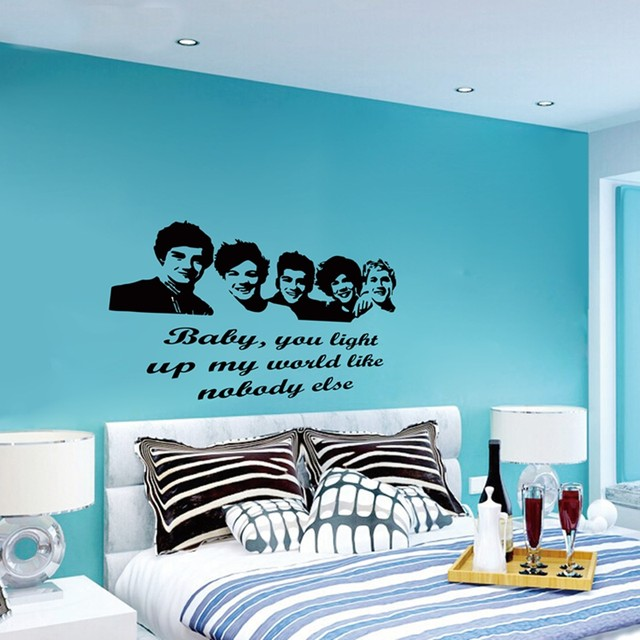 Online Shop Large Size Xcm One Direction D Vinyl Teen - One direction wall decals